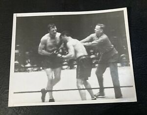 1927 Jack Dempsey Vs. Jack Sharkey Original Type 1 Boxing Photo Clean