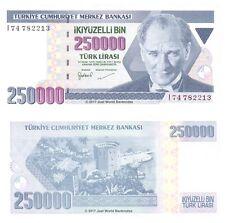 Turkey 250000 Lira 1992 P-207 Banknotes UNC