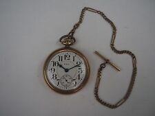 1922 Elgin B.W. Raymond Railroad Grade 455 Pocket Watch 19j 16s 10k Gf Case Runs