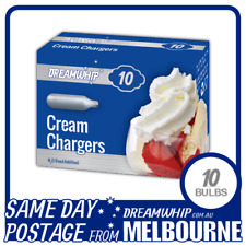 SAME DAY POSTAGE DREAMWHIP CREAM CHARGERS 10 PACK X 1 (10 BULBS) WHIPPED N2O
