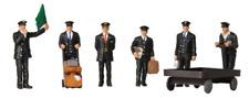 Scenecraft 36-404 Station Staff 1940s - 1950s (Pk6) Figures OO Gauge
