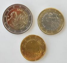 MONETE SAN MARINO 2017 EURO 2 1 0,20 ( 20 CENT) DA ROTOLINO UNC FDC