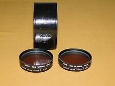 VINTAGE CAMERA LENS HOYA FOG FILTER (A) (B)  49MM SEPIA IN CASE