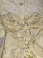 Estate Vintage Lingerie Cotton Gowns Sans Souci Katz Sears Yellows Lot of 3