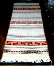 Ethnic Style Woven Rug in Dark Beige, Black & Orange