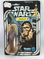 1977 KENNER STAR WARS CHEWBACCA FIGURE 12 BACK A SKU FOOTER MOC NEW