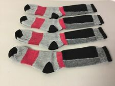 NWOT Men's Polar Edge Merino Wool Socks Size Large Black Multi 4 Pair #616R