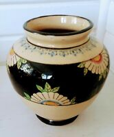 Vintage Large Hand Painted Vase Japan 1920-30's in the style of Clarice Cliff