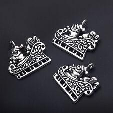10pcs Tibetan Silver Christmas XMS Charm Pendant Beads SANTA SLEIGH 22*20mm