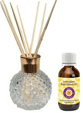 dève herbes Reed Diffuser with  Lemongrass Oil (30ml) - Fragrance made in Spain
