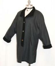 "BOILED WOOL Over Coat Jacket Long Winter WARM Women GERMAN Hunting B47"" 16 L"