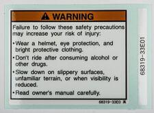 Genuine Suzuki GSXR1100L Label, Warning 68319-33E01-000