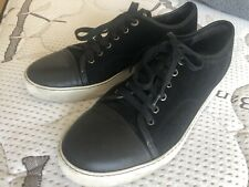 Mens Lanvin Cap Toes Suede Leather Sneakers  8