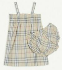 Burberry Baby Girls Dress And Knicker Outfit Age 12 months RRP £180