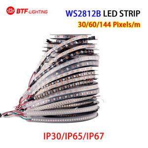 5M WS2812B LED Light Strip 5050 RGB 30/60/144 LEDs/M Individual Addressable DC5V