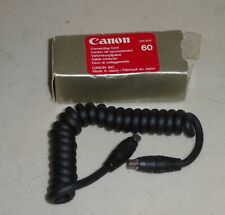 GENUINE CANON CONNECTING CORD 60 ( 60cm ) ... for FILM SLRs , NOT E-TTL .