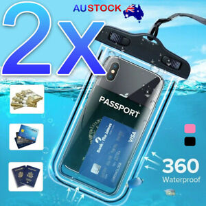 2x Phone Waterproof Pouch Case for Mobile Phone Waterproof Bag
