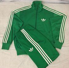 Adidas Originals ADI-Firebird Tracksuit Green White Jacket Size 2XL Pants Sz XL