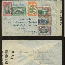 CEYLON KG6 1945 WW2 CENSORED COVER 6 COLOUR PICTORIAL FRANK..from ADMIRALTY
