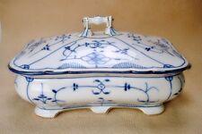 Schüssel mit Deckel Hüttensteinach Strohblume Indisch Blau Goldrand  Swaine & Co
