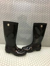 UGG Australia SHAYE Black Rubber Waterproof Pull On Rain Boots Women's Size 6