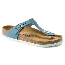 Birkenstock Nubuck Suede Leather GIZEH Dove Blue BNIB 1016088 SOFT Footbed