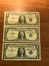 SET OF 3 Silver Certificate STAR NOTES series   1957 1957A AND 1957B