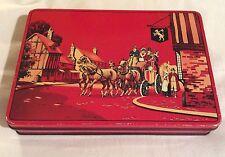 Rare vintage G. & T. Bridgewater Ltd Biscuit tin Coach & Horses design