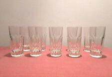Antico Servizio 10 bicchieri in cristallo per liquore, Italia Vintage