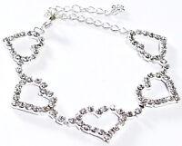 Rhinestone Austrian Crystal Bracelet Hearts