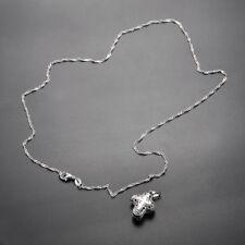 Women Man Jewelry Locket 925 Silver Magnet Cross Pendant Chain Necklace Chocker