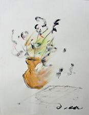 Lia de Fontenelle acrylique sur papier signée en bas à droite 40,7 x 29,7 cm