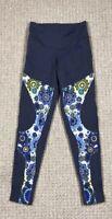 Free Flying Fish Flywear Flower Olive Mandala Leggings Size M