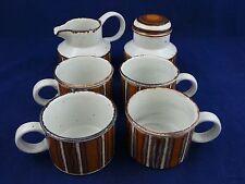 4 Coffee Cups, Creamer & Sugar w/lid Mid Winter Staffordshire England Set