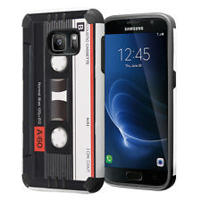Hybrid Dual Layer Armor Case for Samsung Galaxy S7 - Cassette Tape