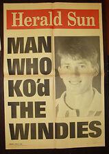 1995 Herald Sun Man Who Knocked KOD The Windies Newspaper Cricket Poster McGrath