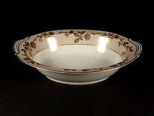 Noritake 5491 Oval Serving Bowl Moriage Gold Flowers Trim Beige Rim