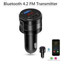 Car Wireless Charger Bluetooth FM Transmitter Modulator 3.1A Dual USB Port Auto'