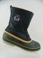 SOREL Black Sz 10 Women Rain/Snow Rubber Winter Boots