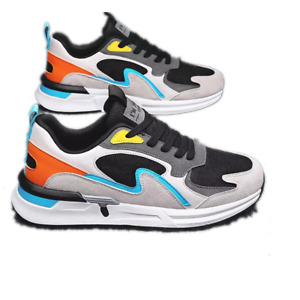 Mens Lace Up Breathable Casual  Round Toe Youth Sports Athletic Triners Sneakers