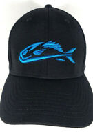 Turquoise Fossil Fish Field & Stream Logo Baseball Style Hat Black Fitted Large