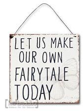 Metallschild Fairytail 18 x 18 NEU Clayre & Eef Schmetterling  Vintage   Shabby