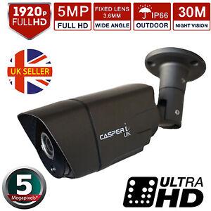 CCTV 5MP 4in1 Bullet Camera Outdoor 1920P Ultra HD 30M IR Night Vision 3.6MM UK