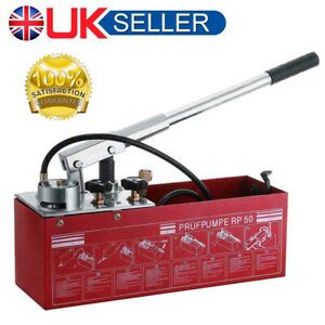 Water Pipe Line Leakage Tester Pressure Test Pump 5MPa System 12 Litre Tool UK