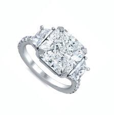 18k White Gold GIA Certified 1.90 Carat Radiant Cut Diamond Engagement Ring
