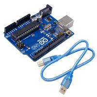 UNO R3 MEGA328P ATMEGA16U2 Entwicklungsplatine +USB Kabel Kompatibel für Arduino