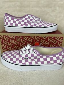 Vans Checkerboard Authentic Womens Sz 9 Sneakers - Orchid/True White VN0A348A3XX