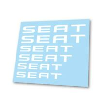 x6 Seat Sport Cupra Leon Logo Badge Hi Temp Brake Caliper Stickers Decals