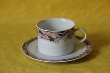 Friesland Jeverland Black Birds Kaffeetasse mit Untertasse Teetasse Untere