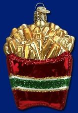 French Fries Ornament Glass Old World Christmas 32099 21